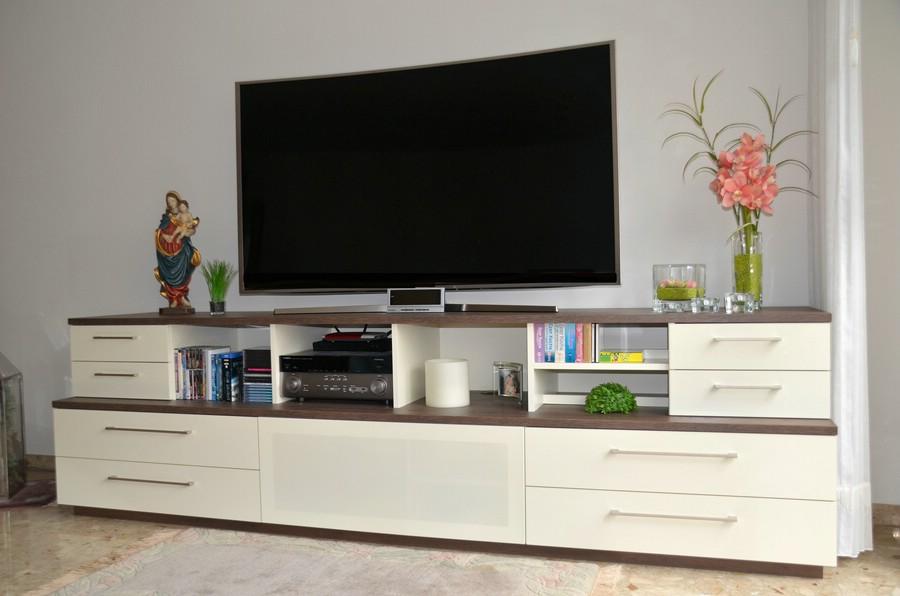 tv medienwand easy creme weisseiche sonoma mit led massivholz tvschrank dansk online kaufen boronode landhausmobel landhausstil mobel